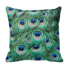 Peacock Feathers Throw Pillows - http://www.photographybypixie.com/2014/12/19/peacock-feathers-throw-pillows/ #photography #photo #gifts #shopping