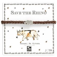 Save the Rhino Charity Bracelets by JoyaCollection on Etsy, $25.00