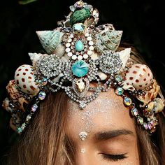 Mermaid crown, shell flower crown