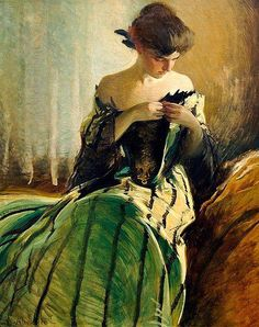 John White Alexander, Study in black and green, 1906 ca., Metropolitan Museum of Art, NY.