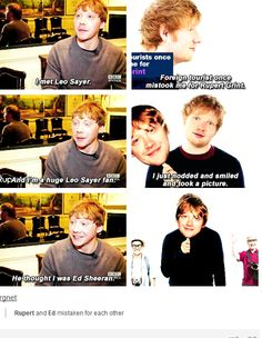 Rupert and Ed Sheeran