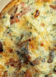 Cheesy Steak And Veggie Bake Serves 6  Ingredients  1 pound steak tips 1 cup sharp cheddar cheese, grated 1 cup fontina cheese, grated 6 slices bacon, optional 2 white onions, thinly sliced 2 cloves garlic, minced 1/2 tablespoon herbs de Provence kosher salt and freshly ground pepper, to taste Directions  Preheat oven to 375º F. If using, cook bacon to personal preference. (Don't make it too crispy, as it will also be baked later.) In a large pan or skillet over high heat sear steak tips…