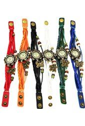 ThaiTime Wholesale Lot of 6pcs Womens Girls Butterfly Leather Strap Bracelet…