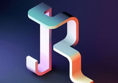 Singapore-based design studio BÜRO UFHO created these impressive artworks as their contribution for the 2016 edition of the 36 Days of Type project. More typography inspiration via Behance Creative Typography, Typography Letters, Typography Design, Typography Poster, Hand Lettering, Alphabet Design, 3d Alphabet, Grid Design, Design Art