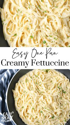 One Pan Fettuccine Ready In 25 Minutes - Easy Peasy Pleasy Fettuccine Recipes, Pasta Recipes, Chicken Recipes, Alfredo Sauce Recipe Without Heavy Cream, Keto Alfredo Sauce, Potato Pasta, Lotsa Pasta, Pizza, Milk Recipes