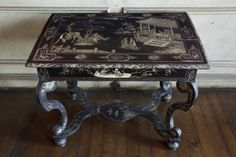 Side table of about 1675 decorated with - or in the style of - incised lacquer, in the Withdrawing Room at Ham. ©National Trust Images/John Hammond