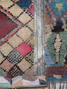Boucherouite Rug at les petits bohemes losanges pastels