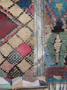 Image of Tapis Boucherouite losanges pastels