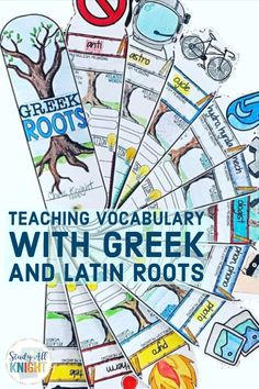 Greek and Latin Roots Vocabulary, Interactive Sketch Notes Activities, and Fans - Lorene Kiraly 8th Grade Ela, 6th Grade Reading, Vocabulary Notebook, Vocabulary Strategies, Vocabulary Instruction, Teaching Vocabulary, Teaching Phonics, Writing Strategies, Vocabulary Activities