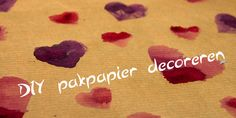 DIY: Pakpapier decoreren