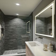 The Pearl Lighted LED Bathroom Mirror is designed to maximize direct illumination. Ideal for precision tasks such as makeup application and shaving.