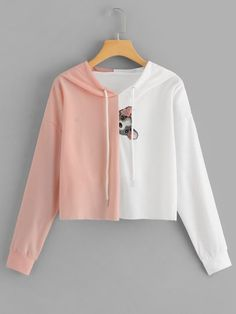 To find out about the Animal Print Color Block Hoodie at SHEIN, part of our latest Sweatshirts ready to shop online today! Mens Sweatshirts, Hoodies, Fashion News, Fashion Outfits, Fashion Women, Sweaters And Jeans, Color Blocking, Trends, Trendy Outfits