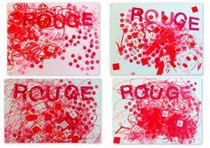 les petites têtes de l'art: Rouge