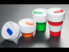 AFTER THEY ARE PERFECTED: Stojo Collapsible Travel Cup - REUSABLE TO-GO: We all want to do the right thing and drink from a reusable coffee cup. But most of us either forget to bring them along or don't want the hassle of carrying a clunky mug or reusable bottle.Stojo is a collapsible drinking cup made mostly of silicone. It folds down...