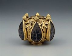 Finial,from Germany,Medieval  (Gothic)  13th cent.  Gilding  on  silver.plated copper with  inlays of  niello on  silver.