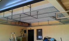 Garage hanging shelves - DIY