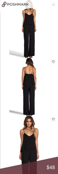 EIGHT SIXTY Black Double Cami Jumpsuit Medium EIGHT SIXTY Black Double Cami Jumpsuit Romper Draped Bodice. Womens Medium M. 100% polyester. Eight Sixty Pants Jumpsuits & Rompers