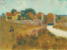 Farmhouse in Provence  Oil on canvas 46.1 x 60.9 cm. Arles: June, 1888  Washington: National Gallery of Art, Alisa Mellon Bruce Collection