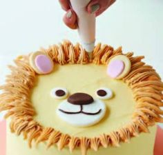 lion cake Lion Birthday Party, Lion Party, Birthday Themes For Boys, Baby Birthday Cakes, 2nd Birthday Parties, Boy Birthday, Bolo Sporting, Lion Cakes, Cake Smash