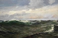 """Charles Napier Hemy, """"A Waste of Waters"""""""