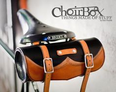 Leather Bicycle Bag by Choirbox - I wonder if they make it in pink and more feminine? Bike Saddle Bags, Bicycle Bag, Leather Bicycle, Leather Bag, Leather Handle, Bicycle Accessories, Leather Accessories, Bike Leathers, Pedal