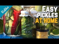 Easiest Pickle Recipe (Turkish Way) | How to Pickle Peppers, Cucumbers, Okras and Plums? - YouTube How To Pickle Peppers, Real Food Recipes, Snack Recipes, Turkish Recipes, Ethnic Recipes, Okra, Mediterranean Recipes, Fresh Rolls, Family Meals
