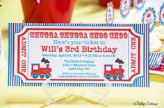 Vintage Train Ticket Invitation Custom by KellysCottageShoppe, $9.00