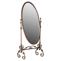 Mirror in Antique Bronze from Wayfair This mirror has a traditional style that adds up to the design and look of the traditional room settings.