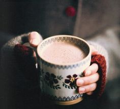 Cozy coffee in winter