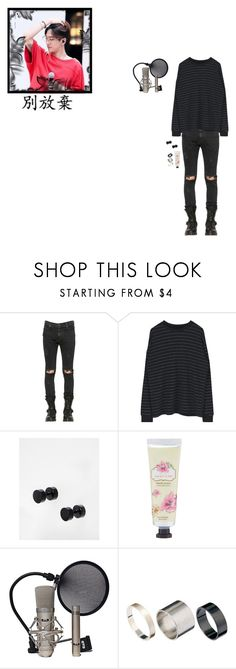 """PRIMARY PROJECT Challenge # 1: Vocals"" by shin-jihoon ❤ liked on Polyvore featuring RtA, ASOS, Just Acces, men's fashion, menswear and primaryproject"