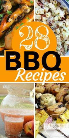 28 Best BBQ Recipes - lots of yummy recipes your next barbecue gathering for neighborhood block party, family reunion, memorial day, labor day, or Sunday dinner. YUM
