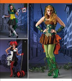 Simplicity Patterns Us1091R5-Simplicity Misses' Super Villainess Costumes-14-16-18-20-22