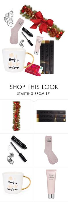 """""""Gift in a Mug - Cosy Christmas"""" by enk98 on Polyvore featuring interior, interiors, interior design, home, home decor, interior decorating, National Tree Company, Nespresso, Bobbi Brown Cosmetics and M&Co"""