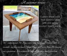 A customer review of one of our latest tables Domino Table, Beach Scenes, Puerto Rico, Teak, Tables, Home Decor, Mesas, Decoration Home, Room Decor