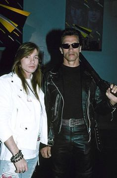 Axl Rose of Guns N' Roses & Mr. Terminator, video of You Could Be Mine, 1991