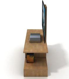 Bergman szafka RTV z drewna bukowego