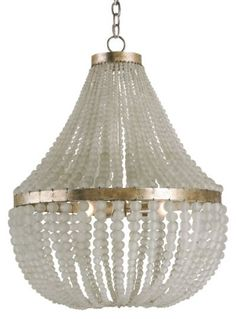 Chanteuse Chandelier // Currey & Company #glass #bead #chandelier