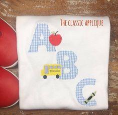 ABC CHILDRENS BLACKBOARD W//APPLE IRON ON APPLIQUE