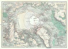 arctic map 1920s