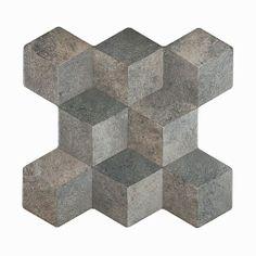 Płytka heksagonalna 3D Atico Tridi Zinc Bestile 37,2x38,8 104zł/m2