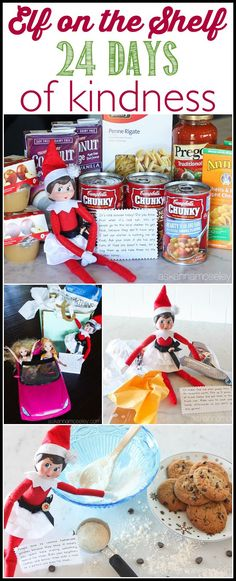 Elfwith a note that says lets take these to the food bank a fun spin on elf on the shelf this year our elf is doing 24 forumfinder Image collections