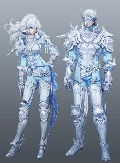 Aion 4.5 absurd unicorn armor/// Other than the high heels I love the girl's armor.