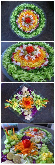 Salad Designing Idea چند ایده برای درست کردن سالاد
