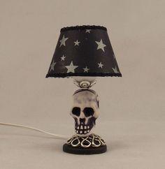 Dollhouse Miniature Electric Table Lamp Skeleton Bones Skull Halloween in Dolls & Bears, Dollhouse Miniatures, Lamps & Lighting | eBay