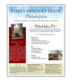 The Simple Family-Friendly Visitor's Guide to Philly by Sarah Block