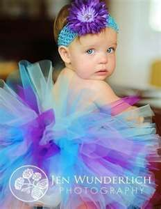 I just made this color tutu for my girls :) their bows are different though. also made of tulle! :)