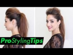 How to Style Runway Hair | Chic Ponytail ** 2 Looks In One ** - YouTube