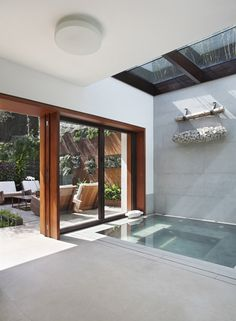 Indoor pool // Door & Skylight