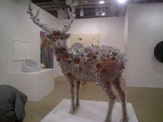 Bambi made from soap bubbles, see more detailed picture next to this one