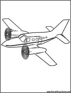 Airplane Coloring Page of a biplane in flight. The website has ...